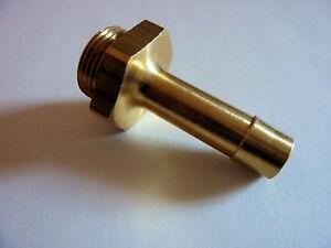 5 x Anschlussstuzen Messing 22x1,5 auf 12 mm für Druckluftbremsanlagen, Anhänger