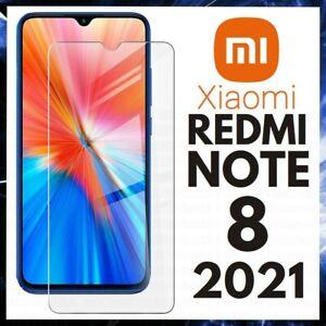 For XIAOMI REDMI NOTE 8 2021 FULL COVER TEMPERED GLASS SCREEN PROTECTOR GENUINE