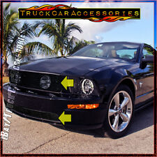 For FORD Mustang GT V8 2005-2009 2PC BLACK Grille Combo Upper w/o Logo+Bumper