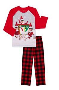 NWT Boys Elf on the shelf pajamas Size S 6/7 2-piece set Long sleeve top & pants