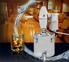 25L Stainless Steel Alcohol Distiller Home Brew Kit Beer Wine Making Food Grade