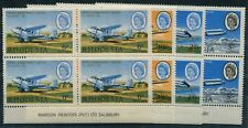 RHODESIA 1966 (SG.393-96) Central African Airways set in matching Imprint blks.4