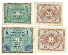 GERMANY: Two Series 1944 WWII Military Payment Bank Notes Circulated
