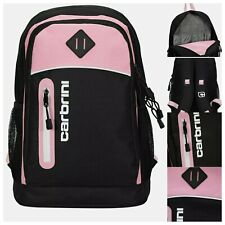 Carbrini 19L Lightweight Padded Backpack - Black and Pink