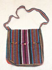 Crossbody Hippie Tribal Messenger Bag Peruvian Handmade Purse Loom Embroidered