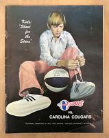 ABA American Basketball Association Carolina Cougars Cap Hat Flat Brim S//M NEW
