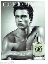 PUBLICITE ADVERTISING 096  2012  Giorgio Armani  parfum homme Acqua di Gio