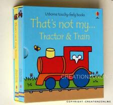 USBORNE TOUCHY FEELY THATS NOT MY TRACTOR & TRAIN 2 BOOK BOXED SET BY FIONA WATT