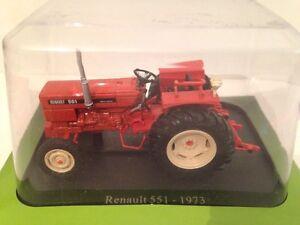 RENAULT 551 TRACTOR 1973 U/H HACHETTE ORANGE/RED TR42 1:43 SCALE NEW