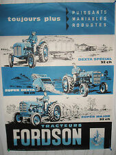 affiche ancienne tracteur FORDSON  (ref 2 )