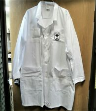 """PPE Lab Coat 41"""" Knee Length NEW Military Issue Walter Reed Bethesda Logo 3XL"""