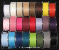 MESH 38mm RIBBON/TRIM (You choose colour per metre) Card Making GREEN TARA