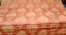 "Cone Jacquard hot pink palmetto palm tree drapery/upholstery fabric 57"" 20yds Bt"