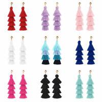 Bohemian Earrings Women Vintage Long Tassel Fringe Boho Dangle Earrings Jewelry