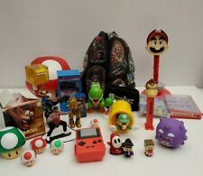 Large Lot Of Video Game Related Toys and Accessories Mario Pokemon Zelda More