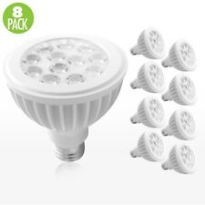 8-Pack PAR30 LED 15W 6500K Cool White Indoor/Outdoor Flood Light Bulbs 100 Watt