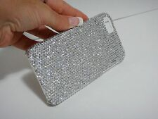 Clear Bling Made with Swarovski Crystal Rhinestone White Case Cover Skin iPhone4