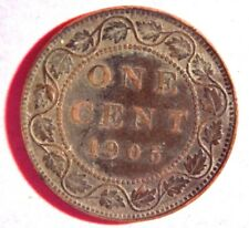 1905 Copper Canadian Large Cent Coin 1-Cent Canada