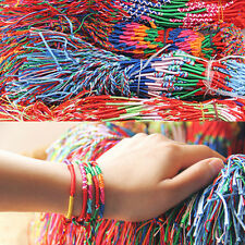 10x Wholesale Bulk Jewelry Lots Colorful Braid Friendship Cords Strands Bracelet