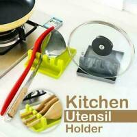 Kitchen Heat Resistant Silicone Spoon Rest Cooking Utensil Spatula Holder 2019