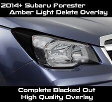 2014 2015 2016 2017 Forester Headlight Complete Black Amber Delete Tint Overlay