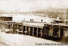 East Side of Plaza, Santa Fe, New Mexico - 1866 - Historic Photo Print