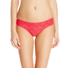 Coral SMALL ROXY Juniors LACE CHEEKY SCOOTER HIPSTER Swimsuit Bikini BOTTOM