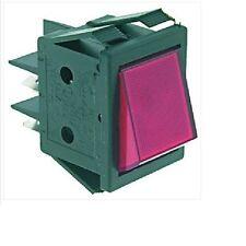 Red Bipolar Switch 16a 250v