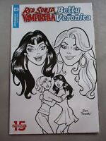 Red Sonja Vampirella Meet Betty and Veronica #3 1:10 B&W Parent variant NM
