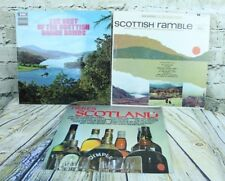 Lot of 3 Scottish Dance Bands Ramble Pipes And Drums Military Vinyl LP Records