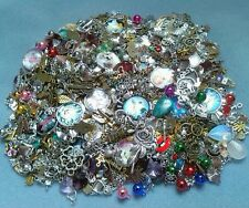 Lot  Of  100 Jewellery Making Charms /Pendants.Silver,bronze,gold,glass and more