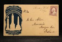 Kansas: Le Roy 1850s #11 Illust Monuments Territorial Cameo Advertising Cover
