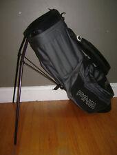 Vintage Ping Hoofer Karsten Carry Stand Golf Bag Gray Grey Black Very Rare