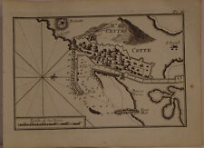 CARTE MARINE XVIII° SIECLE JOSEPH ROUX 1764 SETE