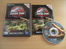 JURASSIC PARK OPERATION GENESIS Pc Cd Rom Original Release - FAST DISPATCH