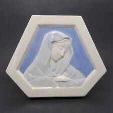 Desvres Gabriel Fourmaintraux Cloda Mano Sujet Religieux vers 1930 Art Déco
