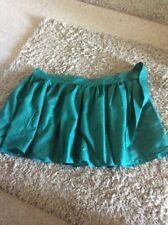 LADIES GREEN & PATTERN FRENCH CONNECTION FINE COTTON SKIRT BUTTON/TIE WAIST SZ L