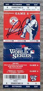 David Ortiz Signed 2013 World Series Ticket Game 2 MVP Red Sox Legend Big Papi