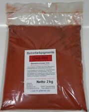 (5,85 EUR/kg)   2 kg Rot Oxid Pigment 510, Pulver Betonfarbe Eisenoxid