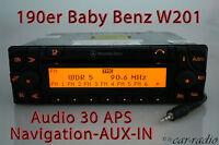 Mercedes Original Navigationssystem Audio 30 APS 190E Baby-Benz W201 AUX-IN Navi