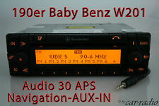 Mercedes Original Navigationssystem Audio 30 APS 190E Baby-Benz W201 AUX-IN Navi