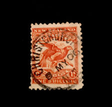New Zealand 1898 Pictorial 1/- bird no wmk p15 SG 257 used CV £29