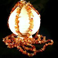 Perles CHIPS - CORNALINE FONCÉE - Orange - 10Gr - 5/10 mm environ