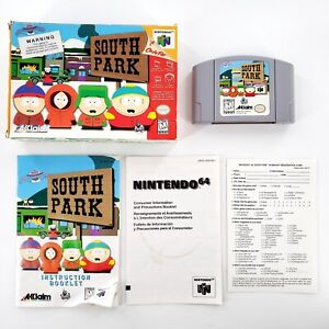 South Park (Nintendo 64, 1998) Authentic Complete In Box w/ Manual Tested