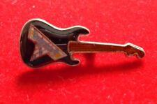 "Van Halen / 1990's Cloisonne Jewelry Pin-on ""Guitar-black"" New / 9/16 x 1 1/2"""