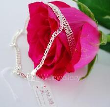 Sólido 925 Plata De Ley-Ley Hermosa * Rombo * Collar de cadena 45 Cm