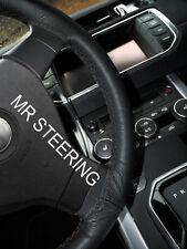 Para VW Transporter T5 03-09 negro piel cubierta del volante doble puntada