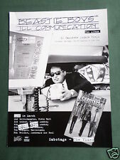THE BEASTIE BOYS - MAGAZINE CLIPPING / CUTTING- 1 PAGE ADVERT -#2