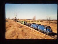 WT19 ORIGINAL TRAIN SLIDE EMD 838/748 South Berea ND 1990