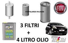 KIT TAGLIANDO 3 FILTRI + 4 LT OLIO FIAT BRAVO II 1.6 Multijet Diesel (2008-2015)